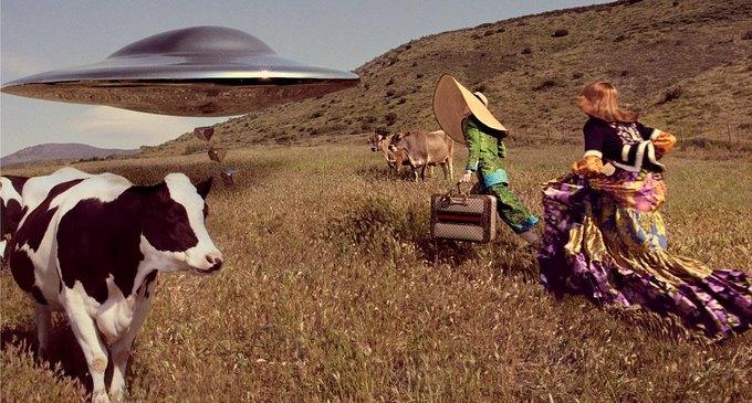 В новой кампании Gucci снялись пришельцы  и динозавры. Изображение № 3.