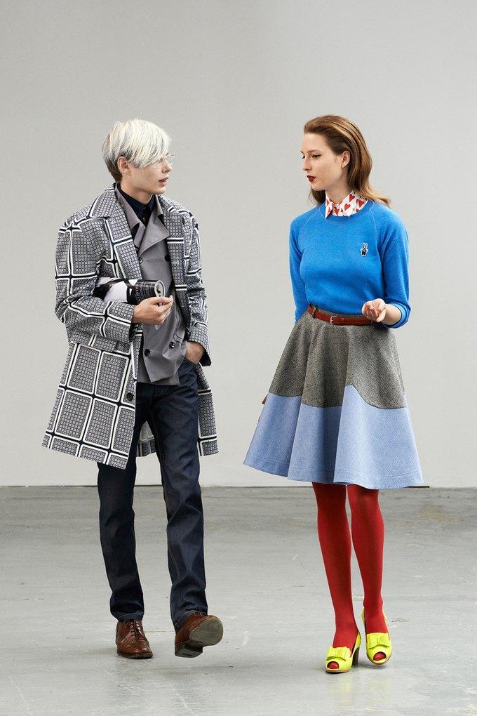 Модели в образах Полетт Годдар и Энди Уорхола в лукбуке Peter Jensen. Изображение № 1.