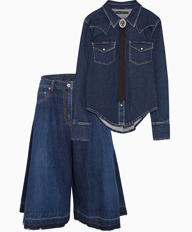 Комбо: Ковбойская рубашка c джинсами. Изображение № 3.