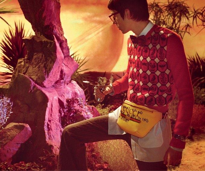 В новой кампании Gucci снялись пришельцы  и динозавры. Изображение № 15.