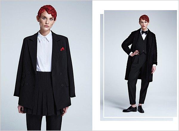 Костюмы в мужском стиле и пальто-халаты в лукбуке Oksana On & Trends Brands. Изображение № 4.