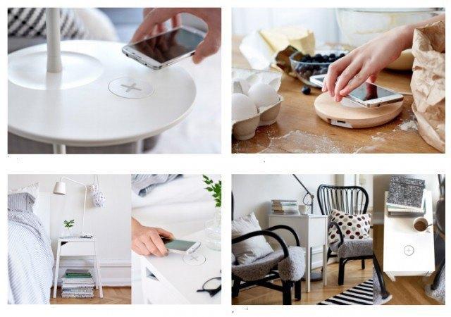 С помощью мебели IKEA можно будет заряжать смартфоны. Изображение № 1.
