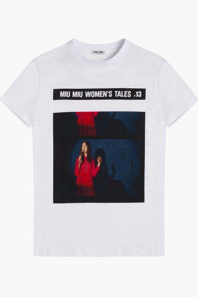 Miu Miu посвятили коллекцию футболок современным женщинам. Изображение № 10.