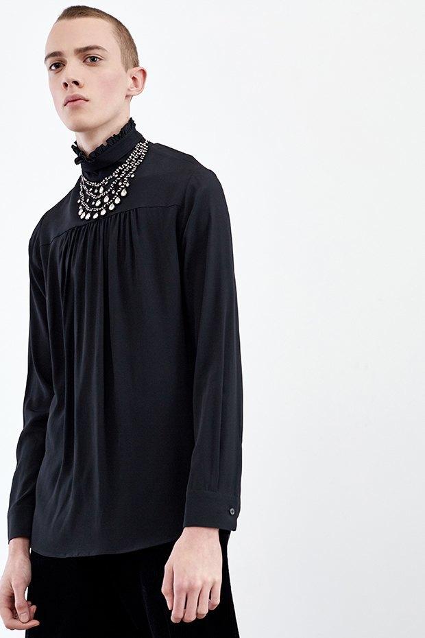 Нежный возраст:  Блузы и рубашки  с высоким воротом. Изображение № 13.