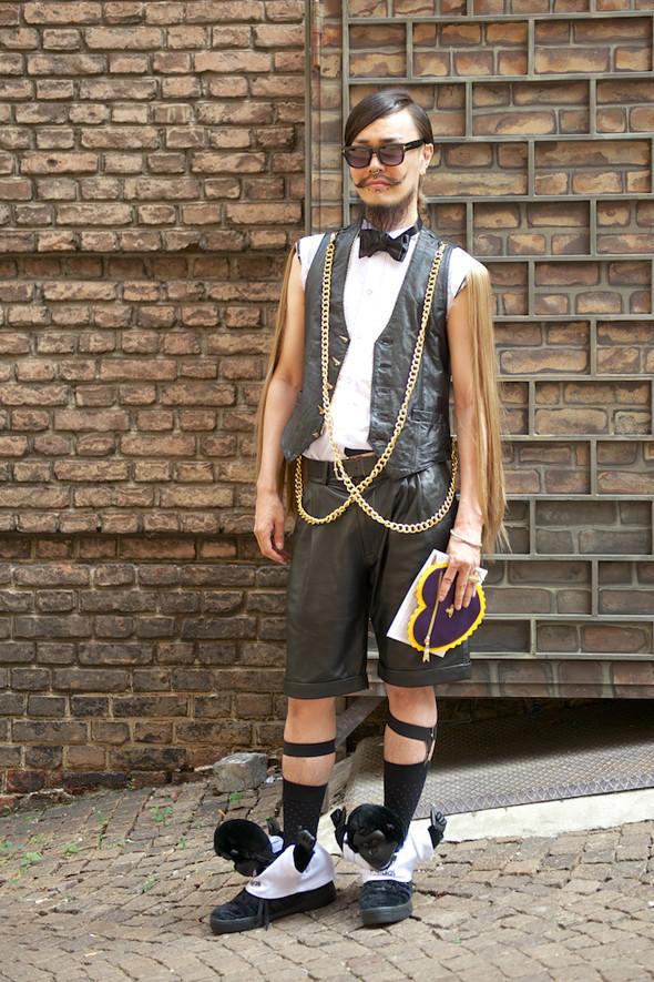 Стрит-стайл: Неделя мужской моды в Милане. Изображение № 15.