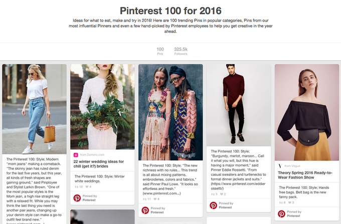 Pinterest назвали 100 трендов 2016 года . Изображение № 1.
