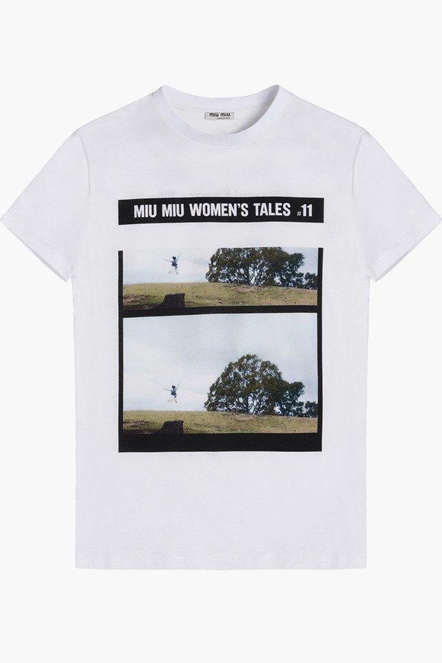 Miu Miu посвятили коллекцию футболок современным женщинам. Изображение № 12.