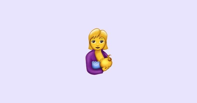 В клавиатуре эмодзи появится символ  для кормления грудью. Изображение № 2.