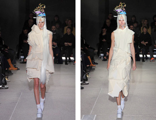 Парижская неделя моды: показы Haider Ackermann, Viktor&Rolf, Vivienne Westwood, Junya Watanabe и CDG. Изображение № 31.