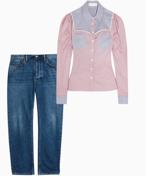 Комбо: Ковбойская рубашка c джинсами. Изображение № 1.
