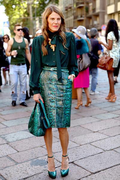 Milan Fashion Week: Уличный стиль, день 1. Изображение № 10.