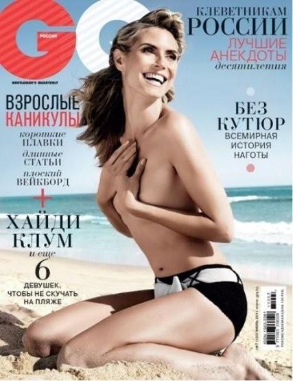 Хайди Клум на обложке российского GQ, июль 2011. Изображение № 4.