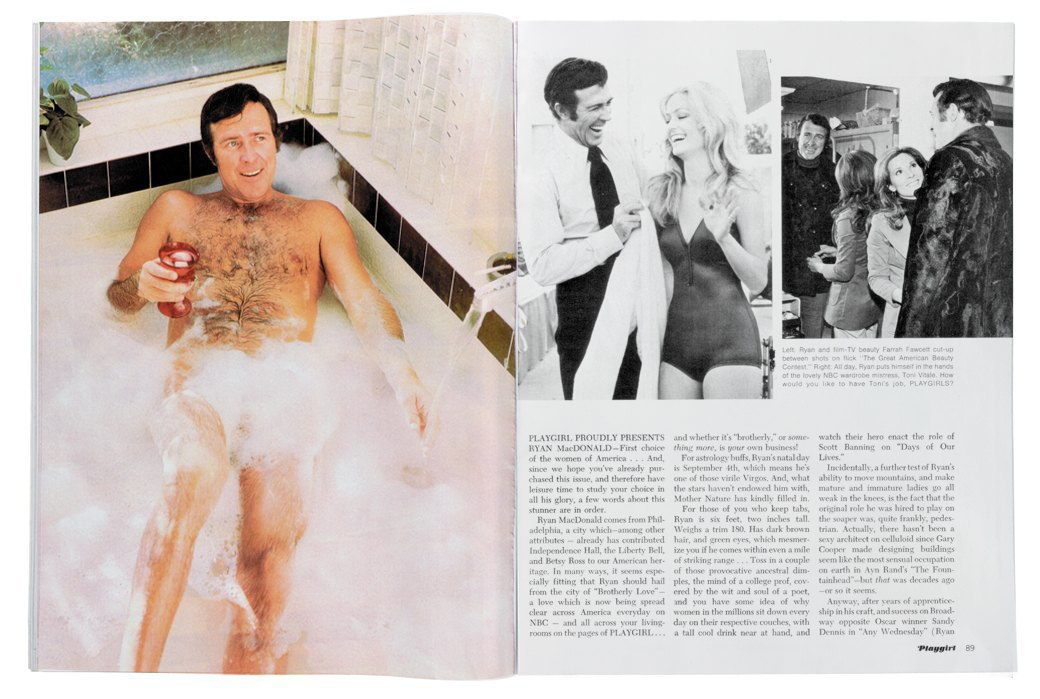 Разворот журнала Playgirl  за 1973 год. Изображение № 3.