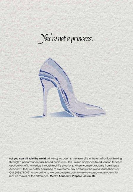 Школа для девочек  запустила кампанию  «Ты не принцесса». Изображение № 1.