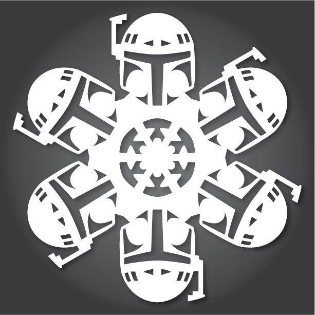 Снежинки с героями «Звездных войн» можно скачать и распечатать. Изображение № 3.
