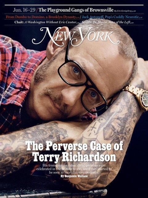 Обложка номера New York Magazine со статьей о Терри Ричардсоне. Изображение № 1.