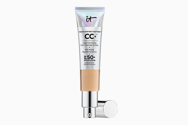 СС-крем IT Cosmetics Your Skin But Better CC+ Cream with SPF 50+ с коллагеном, пептидами, ниацинамидом и антиоксидантами. Изображение № 6.
