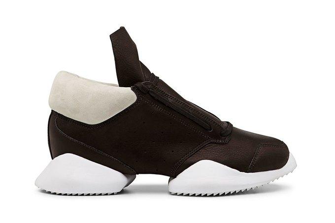 Кожаные и нейлоновые кроссовки Рика Оуэнса для adidas. Изображение № 6.