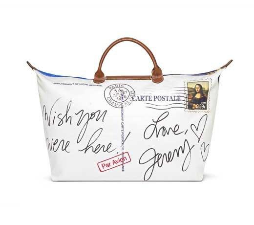 Джереми Скотт создал для Longchamp сумку в виде открытки из Парижа. Изображение № 2.