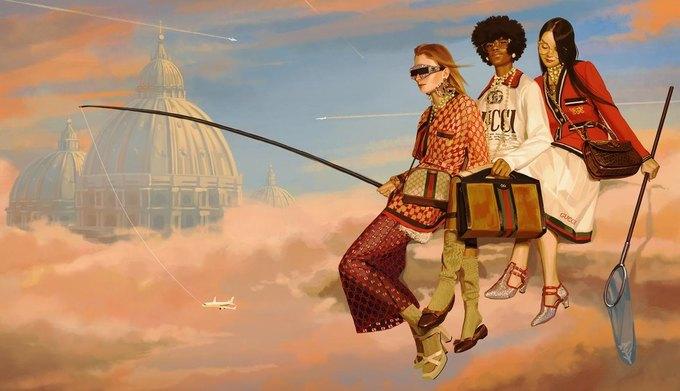 Новую кампанию Gucci нарисовал художник. Изображение № 8.