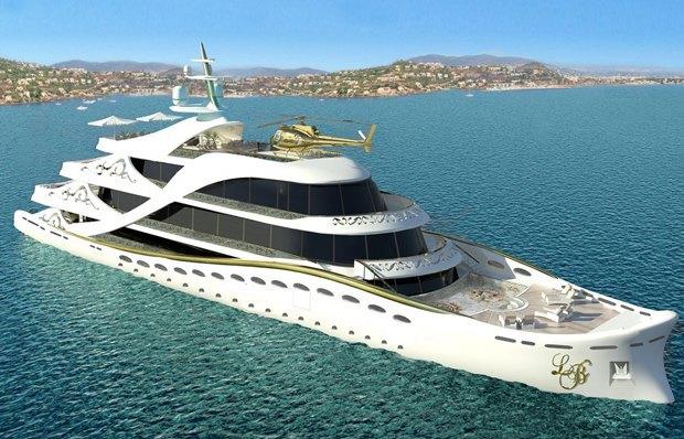 Что нужно женщине  по мнению создателей роскошной яхты. Изображение № 1.