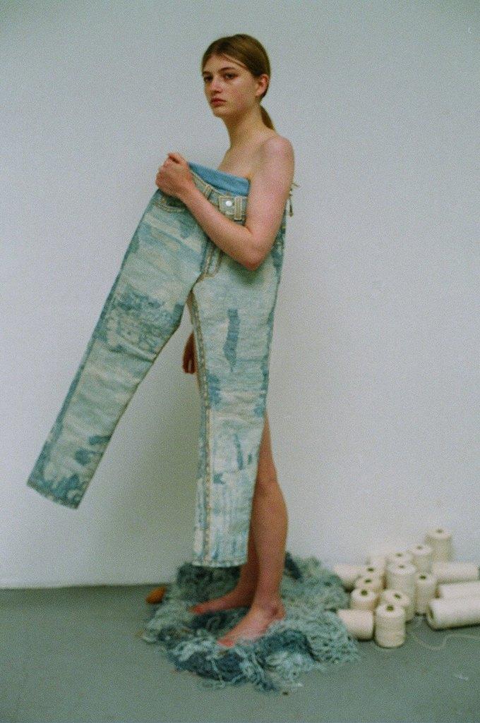 Джинсы цвета мяты и махровые куртки в лукбуке Faustine Steinmetz. Изображение № 9.