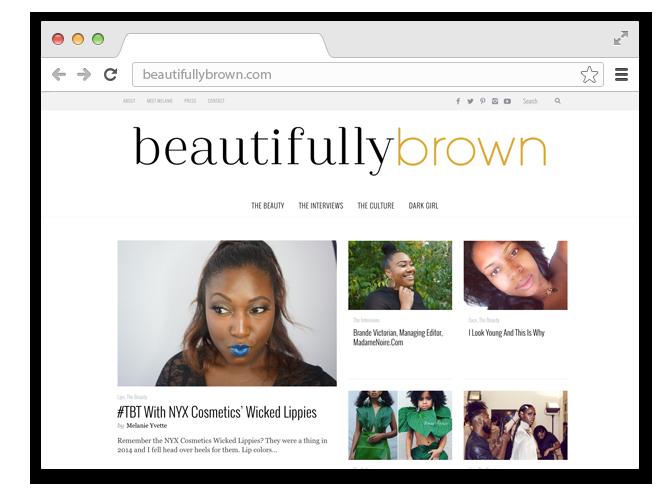 В закладки: Блог Beautifully Brown о красоте тёмной кожи. Изображение № 1.