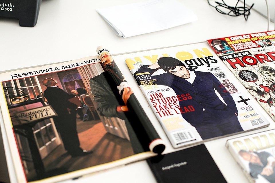 Еще один старый номер The Face, номер Nylon Guys, когда-то любимого издания о мужской молодежной моде. Сейчас он сдулся, да и я вышел из возраста их потребителя. Изображение № 18.