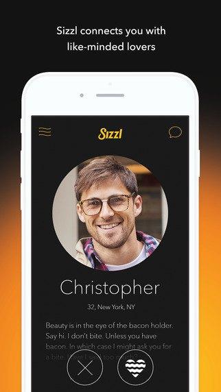 Приложение Sizzl помогает ценителям бекона найти любовь. Изображение № 1.