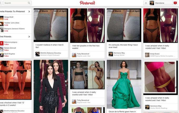 Так выглядел результат хакерских проделок выглядел в лентах Pinterest. Изображение № 1.