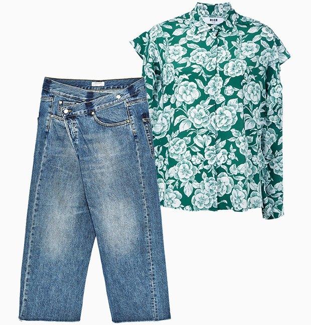 Комбо: Рубашка с фантазийными джинсами. Изображение № 3.