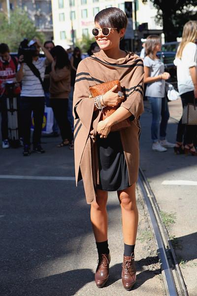 Milan Fashion Week: Уличный стиль, день 1. Изображение № 6.
