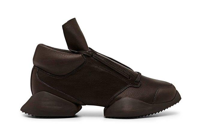 Кожаные и нейлоновые кроссовки Рика Оуэнса для adidas. Изображение № 3.