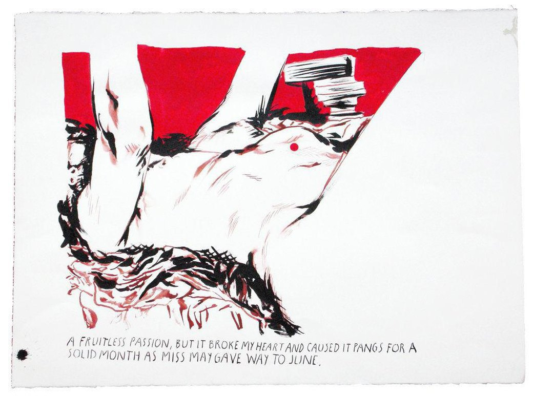 Untitled (A fruitless passion), Raymond Pettibon, 2008. Изображение № 7.