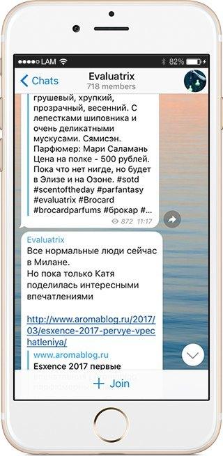 На кого подписаться: Телеграм-канал о тайнах ароматов Evaluatrix. Изображение № 3.