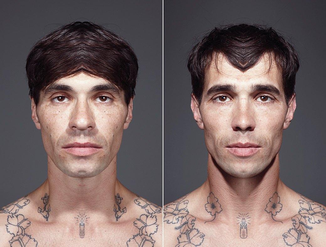 «Симметричные портреты»:  Два человека в одном. Изображение № 8.