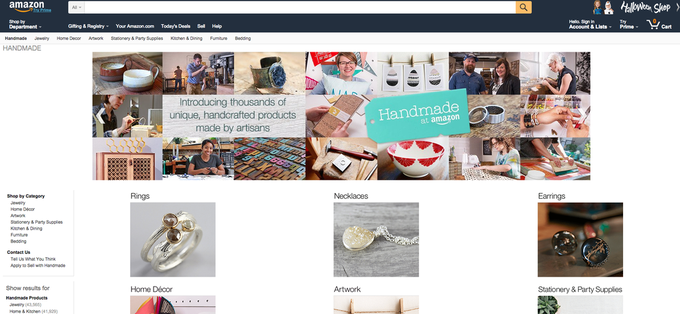Amazon запустили площадку для продажи товаров ручной работы. Изображение № 1.