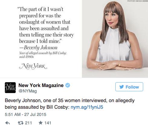 35 женщин, обвинивших Билла Косби в насилии,  на обложке NYMag. Изображение № 6.