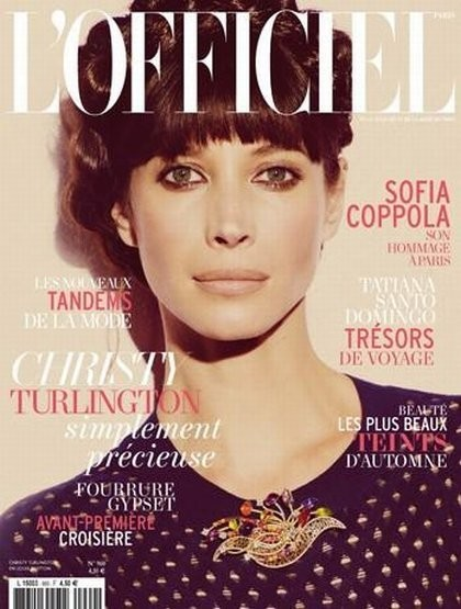 Кристи Тарлингтон на обложке L'Officiel, ноябрь 2011. Изображение № 10.