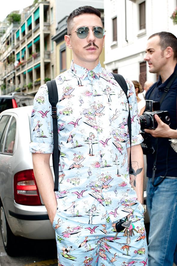 Стрит-стайл: Неделя мужской моды в Милане. Изображение № 37.