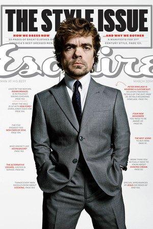 Питер Динклэйдж  на обложке Esquire.  Такой стиль. Изображение № 1.