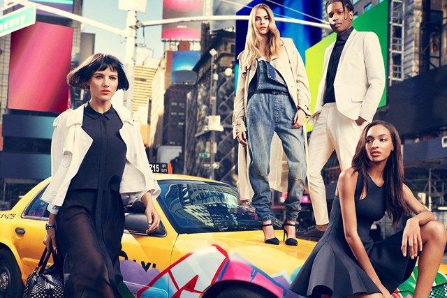 A$AP Rocky и Кара Делевинь в рекламной кампании DKNY. Изображение № 2.