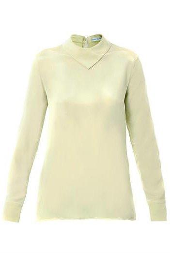 Мятные костюмы  и бархатные платья Trager Delaney. Изображение № 9.