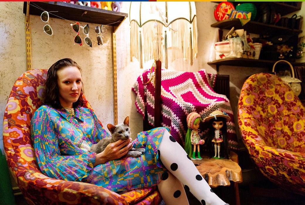 Психоделия: Дизайнер обуви Джорджи Би и ее коллекция винтажа. Изображение № 1.