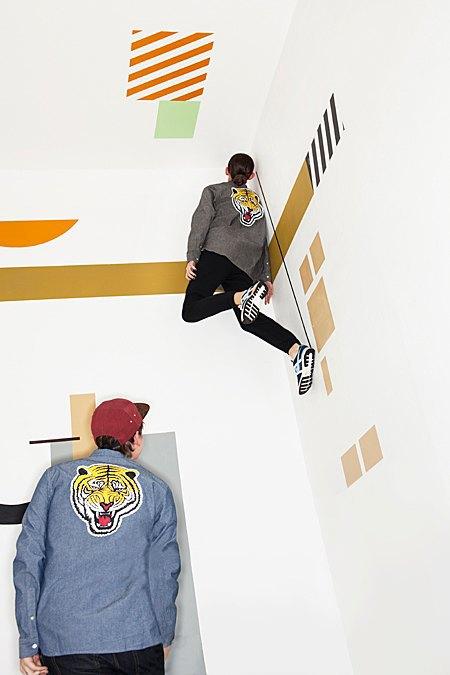 Графичные декорации Алексея Луки в осеннем лукбуке Kixbox. Изображение № 12.