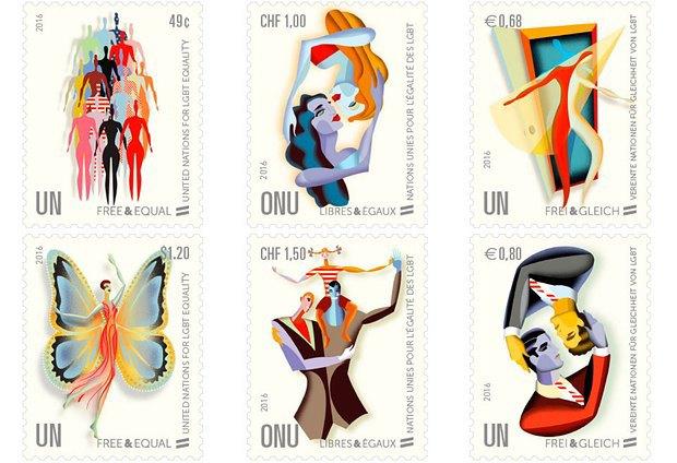 ООН выпустила памятные марки, посвящённые ЛГБТ-сообществу. Изображение № 1.