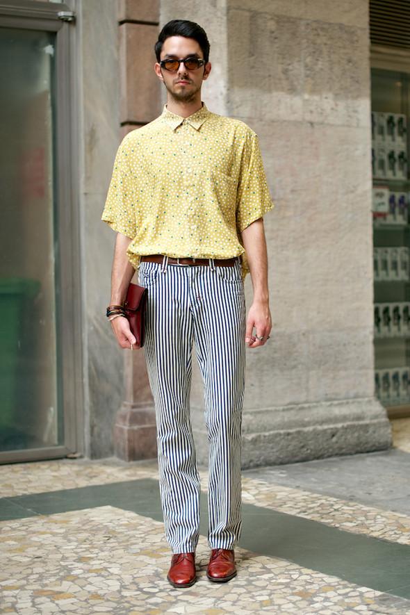 Стрит-стайл: Неделя мужской моды в Милане. Изображение № 10.