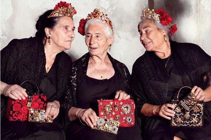 Бабушки и тореадор  в новой рекламе  Dolce & Gabbana. Изображение № 7.