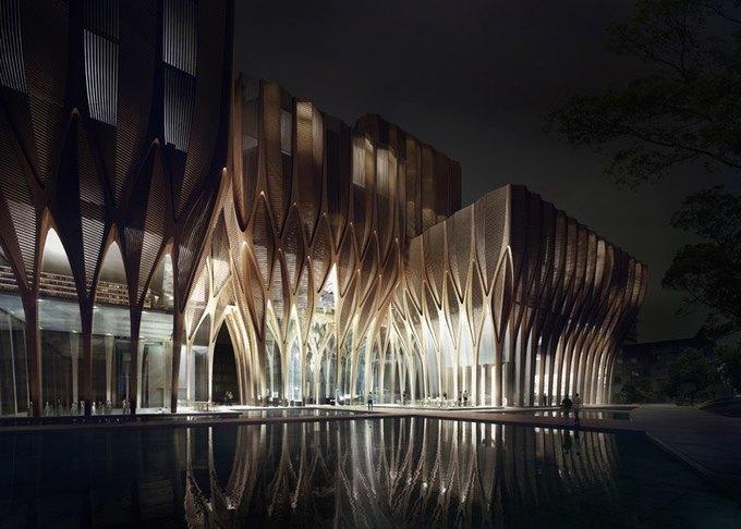 Заха Хадид спроектировала мемориальное здание  в Камбодже. Изображение № 4.