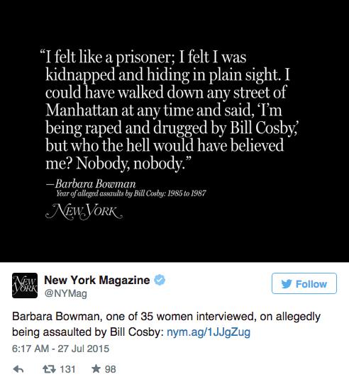 35 женщин, обвинивших Билла Косби в насилии,  на обложке NYMag. Изображение № 7.